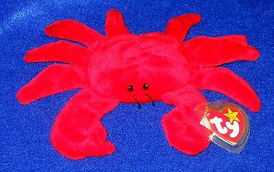RARE TY BEANIE Baby Digger Red Crab With Tag 4027 Retired 1995 ... d195e5ce3d6