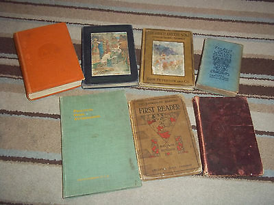 Lot of 7 antique books, Zane Grey, Leif and Thorkel, Practical Home Veterinarian
