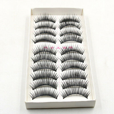10 Pairs/set Long False Eyelashes Makeup Natural Fake Thick Black Eye Lashes
