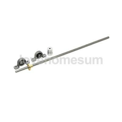 T8 Lead Screw Rod OD 600mm Threaded Rods with Brass Nut for 3D Printer #2