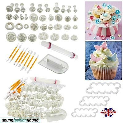 Cake Decorating Fondant Sugarcraft Icing Plunger Cutters Tools Mold Mould