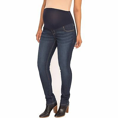 GREAT EXPECTATIONS Maternity Petite Full-Panel Straight Jeans, NWT, Size L & XXL