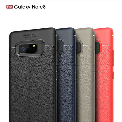 Ultra-thin PU Leather Soft TPU Back Case Cover For Samsung Galaxy S8 Plus Note 8