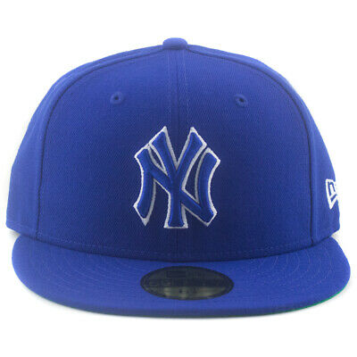New York Yankees New Era MLB 59Fifty 6 7/8 Hat Genuine Baseball Cap In Royal