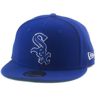 Chicago White Sox New Era MLB 59Fifty 6 7/8 Hat Genuine Baseball Cap In Royal