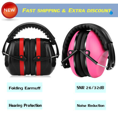 Folding Ear Muffs Earmuffs Noise Reduction Hearing Shooting Protection Snr New