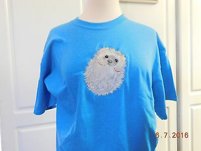New Hedgehog Embroidered T-Shirt Add Name For Free