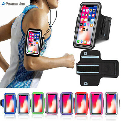 Apple iPhone X 8 7 6s 6 Plus Sports Gym Running Joging Armband Case Cover Holder