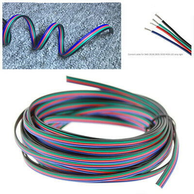 10M PVC 4 Pin RGB Extension Cable Wire Connectors Cord Line For LED Strip Light
