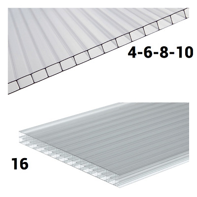 4mm 6mm 8mm 10mm 16mm 25mm 35mm Clear Polycarbonate Roofing Sheets Various Sizes