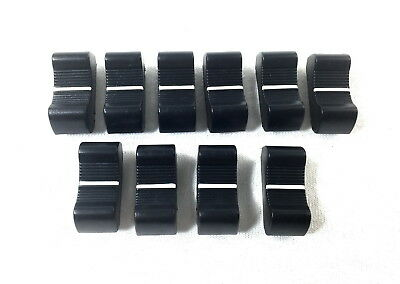 10 x BLACK Slide Potentiometer Mixer Knob 25mmLx11mmW for 4mm Shaft