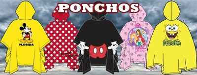 Disney Rain Poncho Keep Dry Bow Parts One Size Fits All