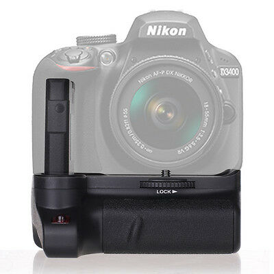 Vertical Battery Grip Holder Replacement for Nikon D3400 Digital DSLR Camera