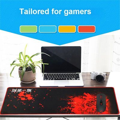 Extended Gaming Large Mouse Pad XL 800x300mm Big Size Desk Mat Black & Red Lot M