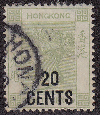 HONG KONG Used Scott # 61 Queen Victoria (1 Stamp)