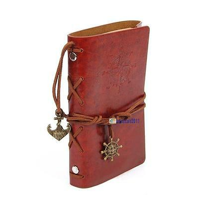 Vintage Classic Retro Leather Journal Travel Notepad Notebook Blank Diary C DG