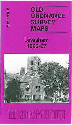 Old Ordnance Survey Map Lewisham 1863-67 Hither Green Station Ladywell Station