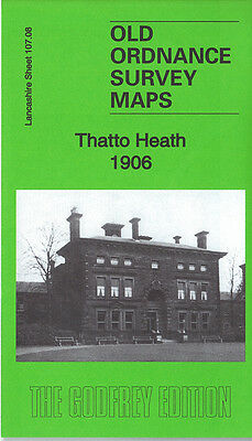 Old Ordnance Survey Map Thatto Heath 1906 St Helens Lea Green Colliery