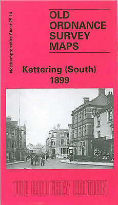 Old Ordnance Survey Map Kettering South 1899 Pridmore Square St Michaels Road
