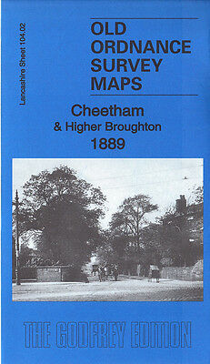 Old Ordnance Survey Map Cheetham Higher Broughton 1889 Manchester Bury New Road