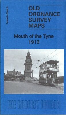 Old Ordnance Survey Map Mouth Of The Tyne North & South Shields Tynemouth 1913