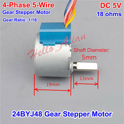 24BYJ48 DC 5V 4-Phase 5-Wire Gear Stepper Motor Micro Reducer Stepping Motor DIY