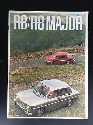 Catalogue Renault R8 major ETAT NEUF
