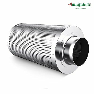 """Amagabeli 6 inch Carbon Filter for Indoor Plants Grow Room 6"""" Air Scrubber Odor"""