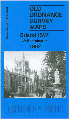 Old Ordnance Survey Map Bristol Sw Bedminster 1902 College Green Pearl Street