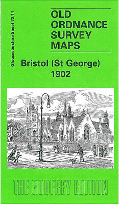 Old Ordnance Survey Map Bristol St George 1902 Two Mile Hill Troopers Hill