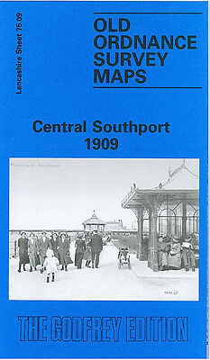 Old Ordnance Survey Map Central Southport 1909 Avondale Road Marine Drive