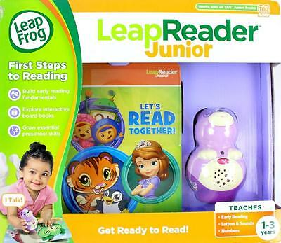 Leapfrog Frog Leapreader Junior Violet Leap Reader Set - Interactive Book NEW
