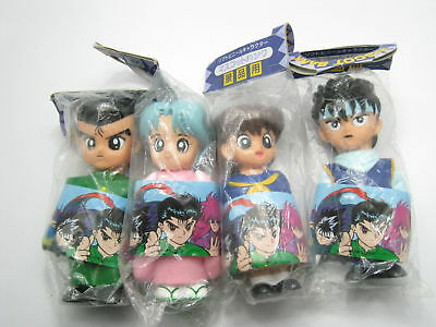Anime Yu Yu Hakusho Soft Vinyl Character Coin Mascot Bank Figure Set Amuse Japan