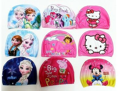 Swim Cap for Kids Digital Cute Cartoon Baby Bathing Children Child Swimming Caps