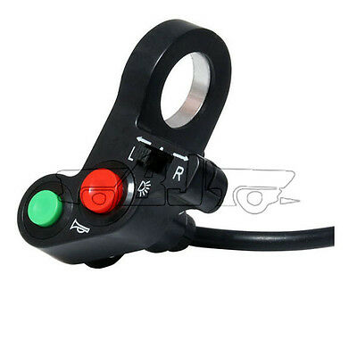 "7/8"" Motorcycle Handlebar Switch Engine Electric Start Horn Light Push Button"