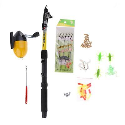 Telescopic Spinning Rod Reel Combo Full Kit Fishing Lures Hooks Lead Sinker