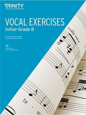 TRINITY COLLEGE: Vocal Exercises 2018 Initial - Grade 8 BOOK/CD (NEW)