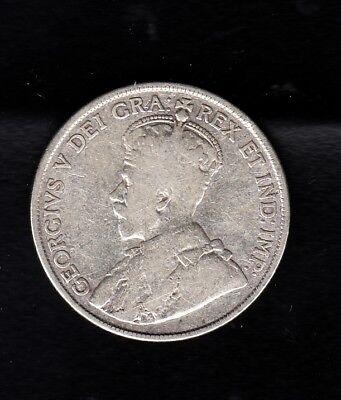 """Canada Silver Coin , 1919,  50 Cents 50 Cent """" King George V """""""