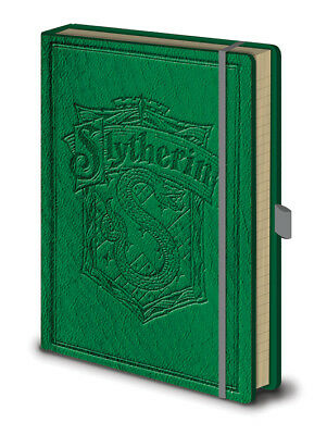 Harry Potter Slytherin Premium A5 Notebook Journal Green Hardbacked Spell Wizard