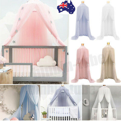 Children Boys Girls Bed Canopy Round Dome Mosquito Net Hanging Curtain AU Stock