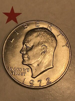 1972 Eisenhower Dollar Super Rare Key Date +++ Ike $1 Coin USA