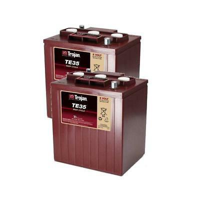 2x Trojan 6V Deep Cycle Solar / Stand By Battery - TE35