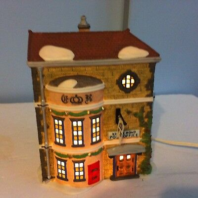 Dept 56 Dickens Village Series Kings Road Post Office Bldg 58017 Christmas