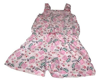 Girls 5-6 Years / Peppa Pig Floral Pink Shorts / Jump Play Suit / New With Tags
