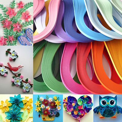 100Strips/Roll 3/5mm Paper Quilling DIY Craft Kit Board Mould Crimper Comb Tools