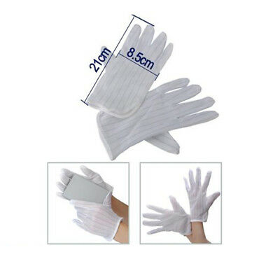 Anti-static Anti-skid Gloves ESD PC Computer Electronic Working White New D9D9