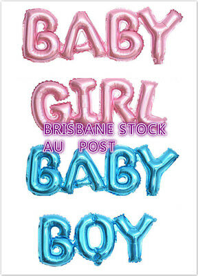 Baby Shower Party Decoration BABY BOY BABY GIRL  Foil Balloon Set Pink Blue