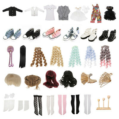 1/4 BJD Dolls' Clothes Shoes Wig Socks Accessories Making for DOD LUTS SD Doll