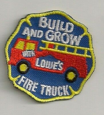 Lowe's Build & Grow Kids Workshop Collectible Patch: Fire Truck
