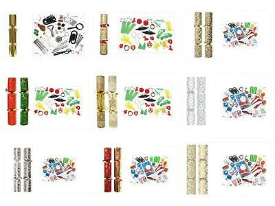 50 X 10 Luxury Christmas Catering Crackers New Years Party Presents Bulk 12 Des